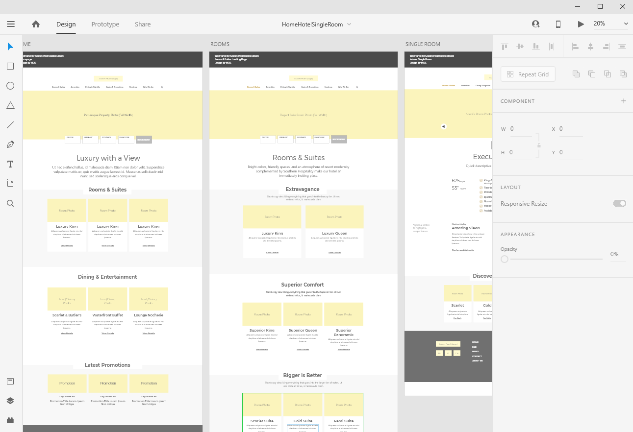 Wireframing with Adobe XD